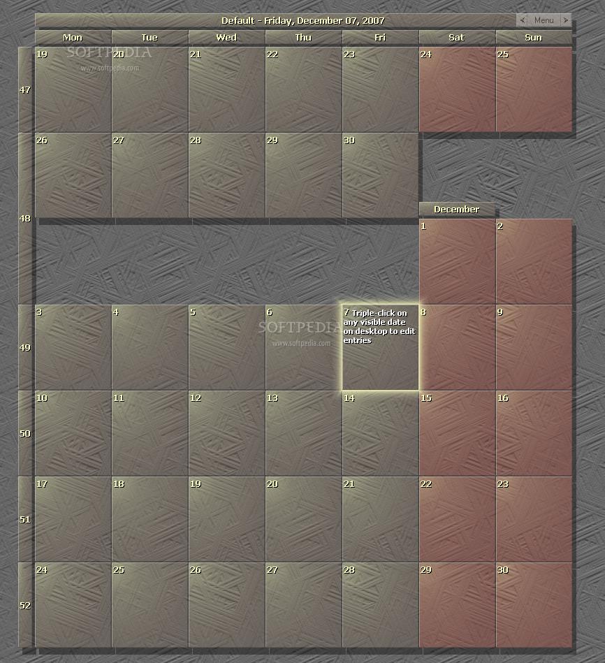 calendar zepsoft