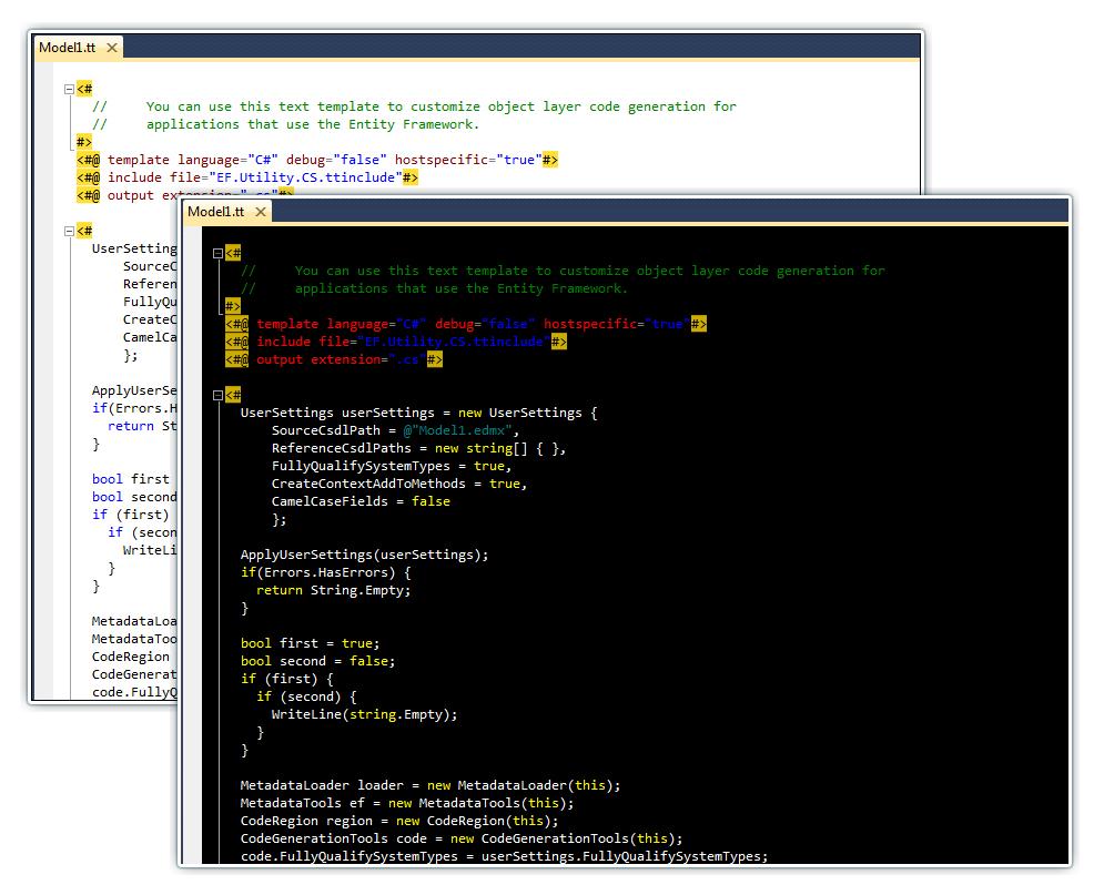 Download Devart T4 Editor for Visual Studio 1 00