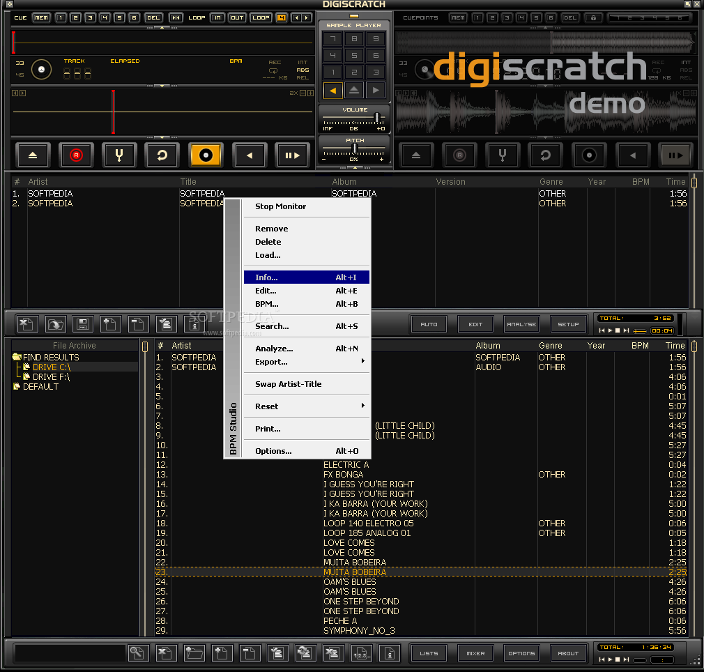 The right click menu of digiscratch will enable you to