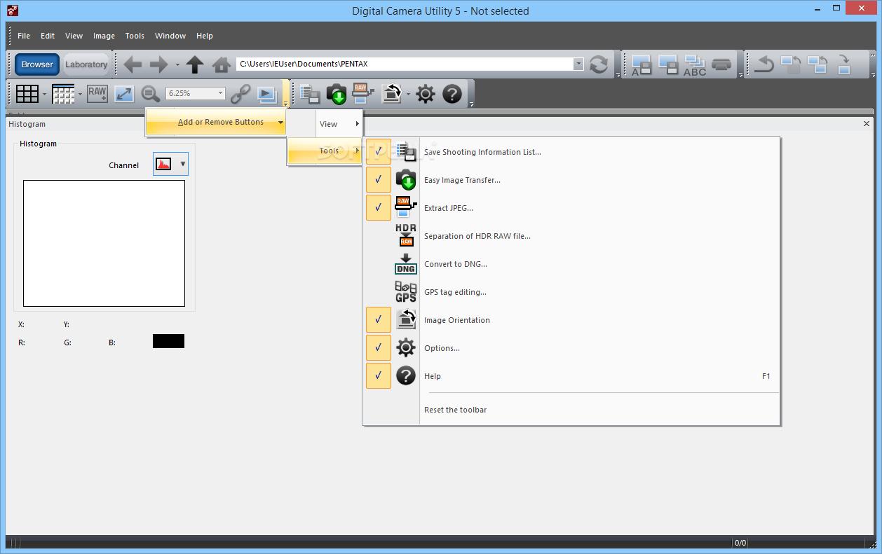 Pentax digital camera utility 4 download.