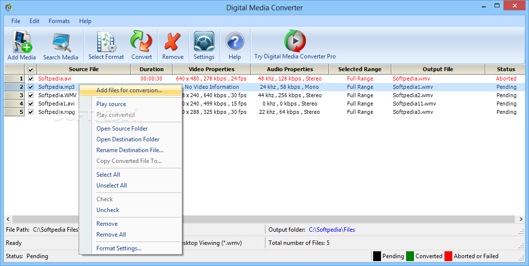 Such Digital Media Converter You Can Add The Files That Need To Process