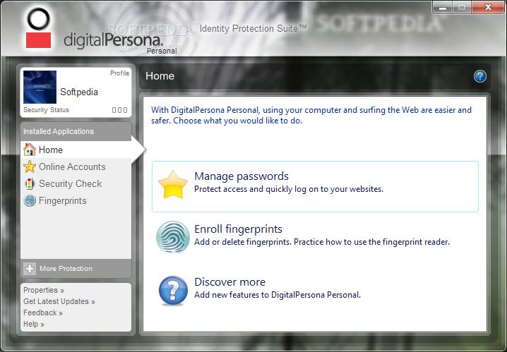 DIGITALPERSONA PERSONAL 4.11 DRIVER PC