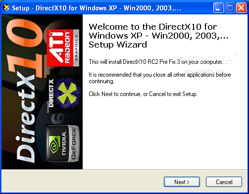 Microsoft directx 9. 0 free download for windows xp.