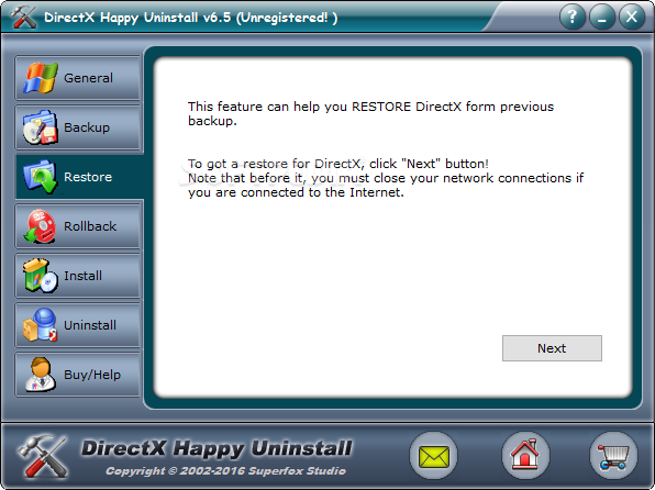 directx happy uninstall 6.8 registration code
