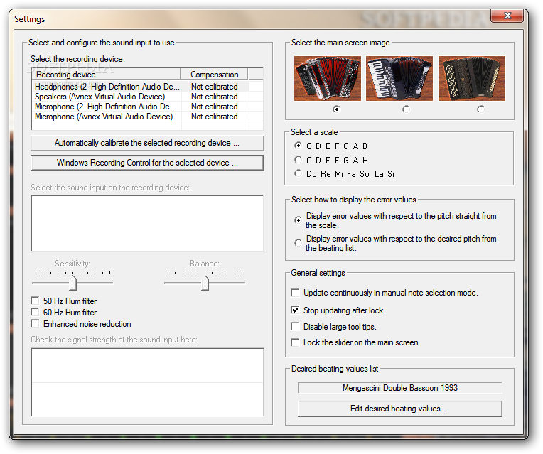 Download Dirk's Accordion Tuner Pro 2 3 1007
