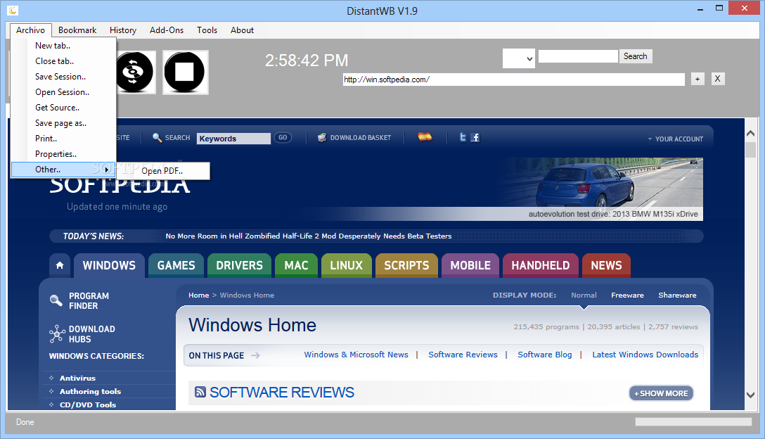 Download Distant Web Browser 1.9