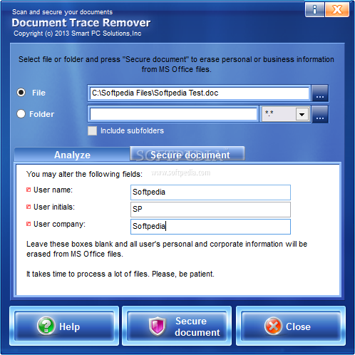 Document trace remover download for As built software documentation