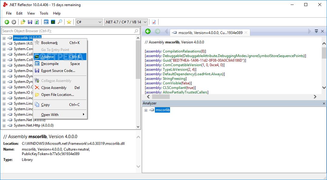 Download  NET Reflector 10 1 6 Build 1524