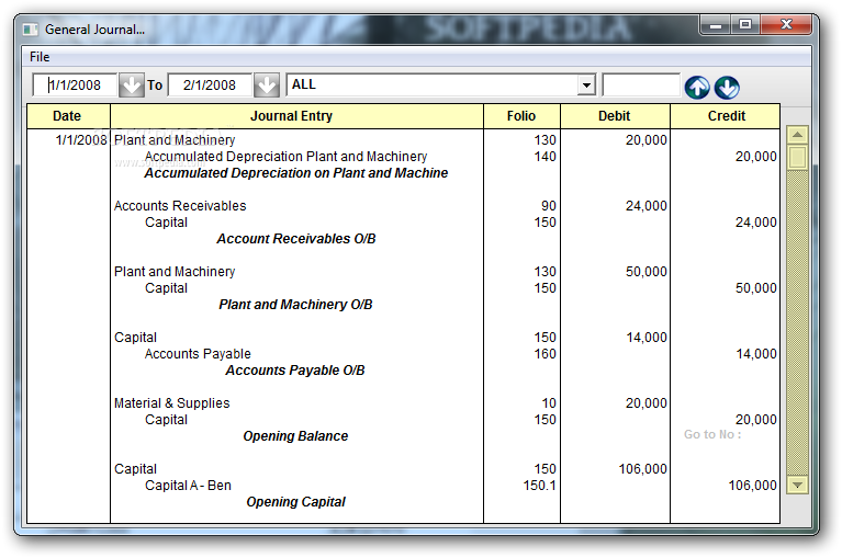 double entry system of accounting notes