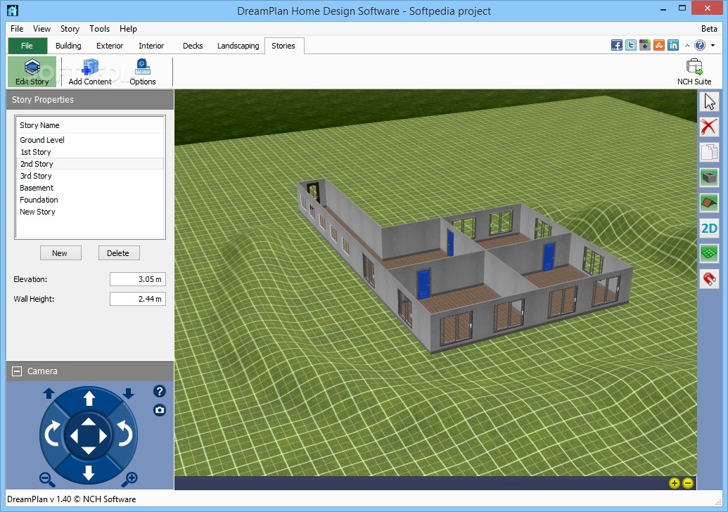 Marvelous ... DreamPlan Home Design Software   The Stories Tab Allows You To Browse  And Edit The Elevation ...