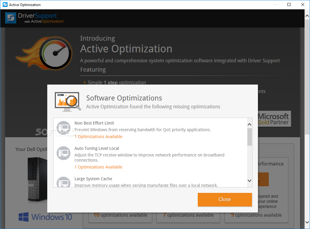 driver support active optimization review