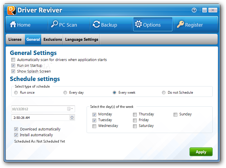 driver reviver license key list