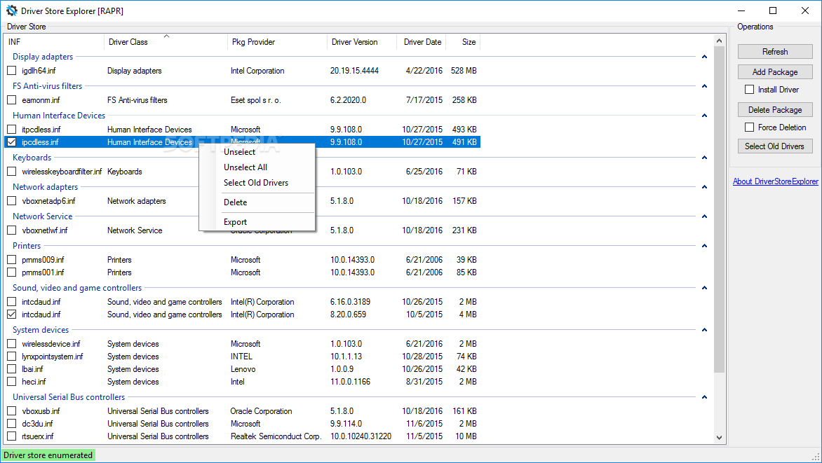 Download DriverStore Explorer 0 10 54