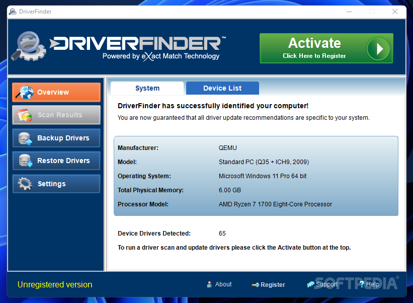driver finder software free download full version