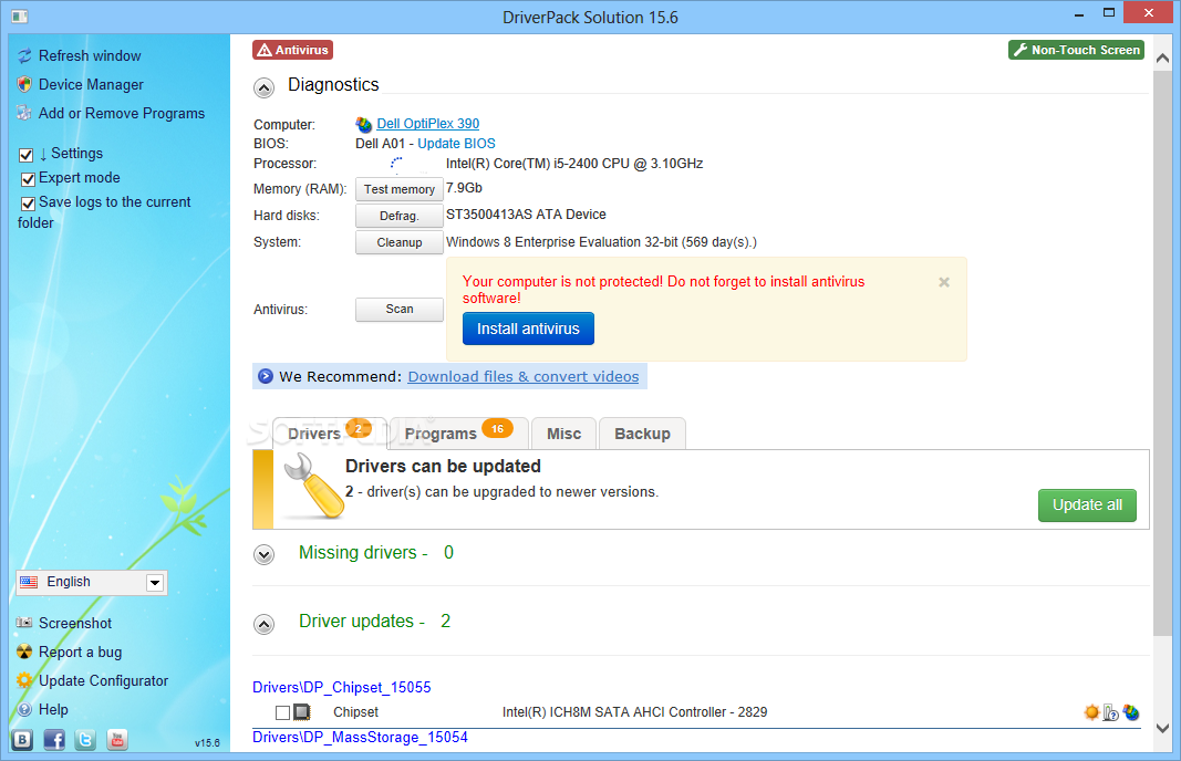 intel driver pack solution download