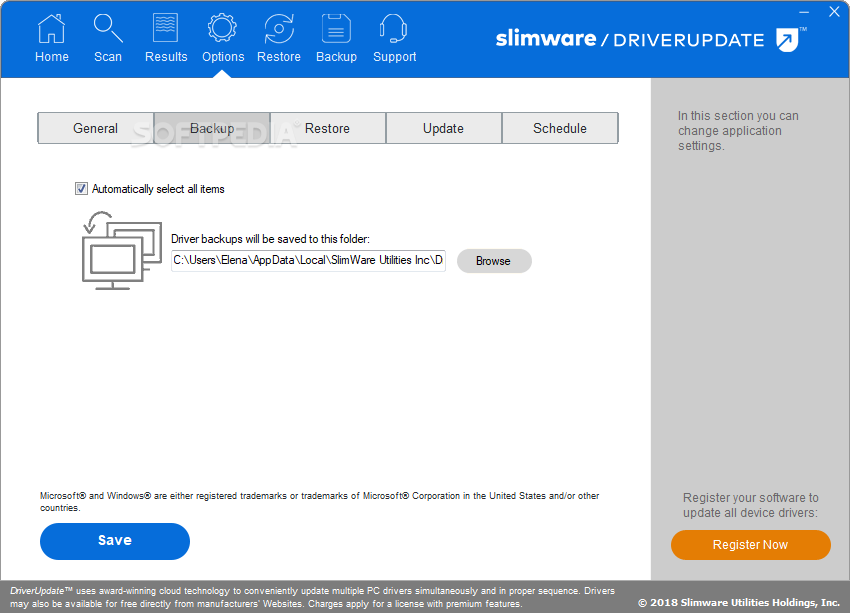 driver update by slimware review