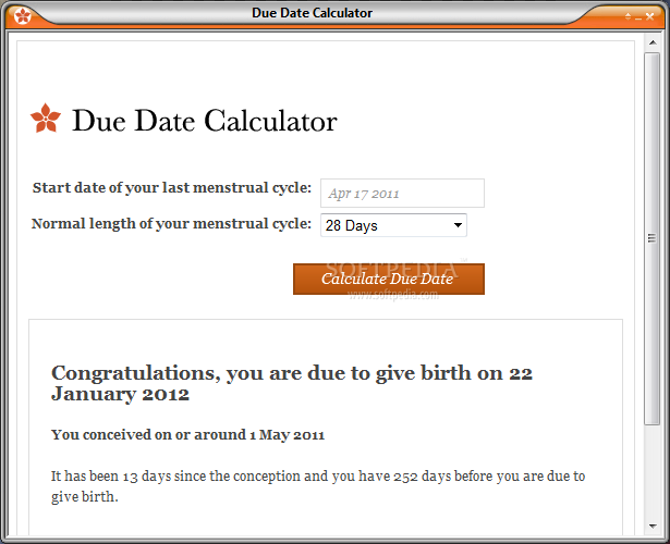 calculate due date norsk datingside