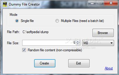 Download Dummy File Creator 1 2 0 0