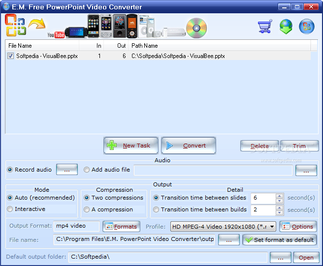 e.m.free powerpoint video converter