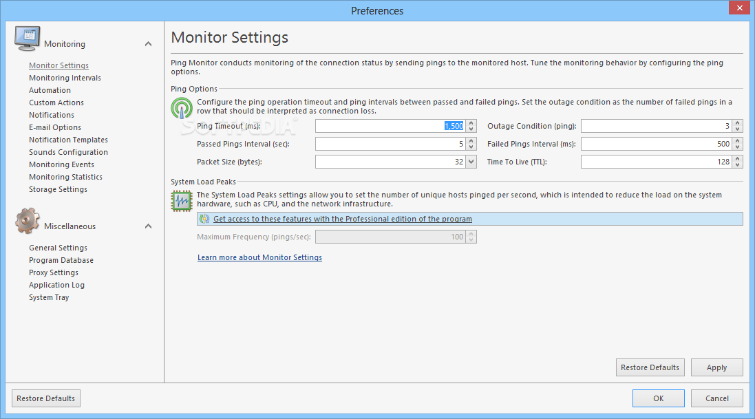 Emco ping monitor formerly noping inspector 4.1.1 build 4250