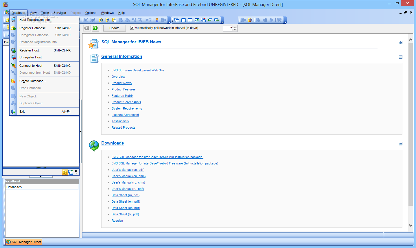 Download EMS SQL Manager for InterBase and Firebird 5 5 4 Build 52620
