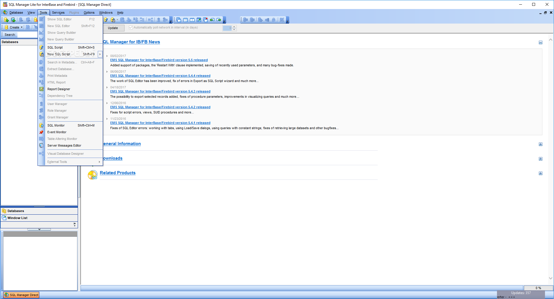 SQL Manager Lite 2010 For Interbase/Firebird