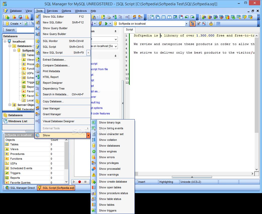 Mysql Command in Software Title