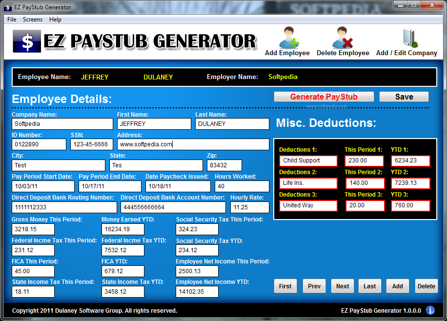 pay stub generator download free Kenicandlecomfortzonecom
