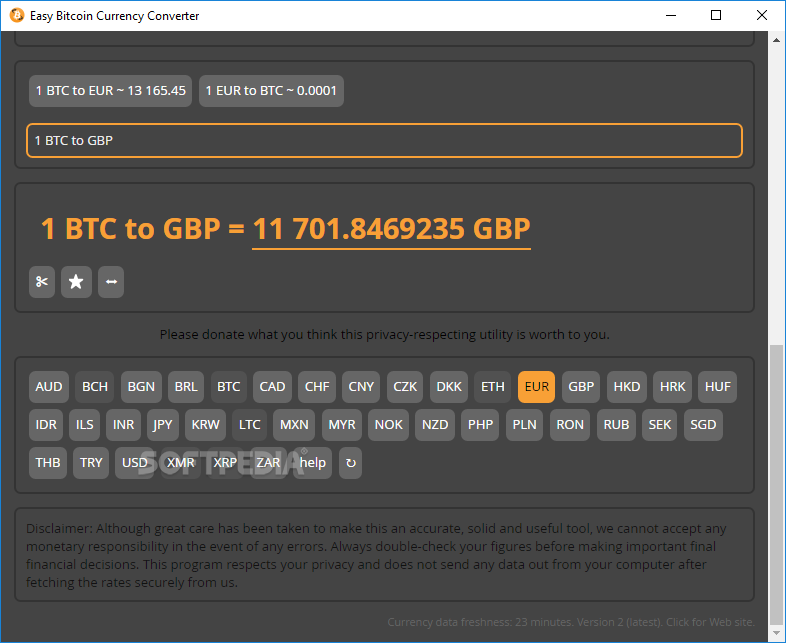 Easy Bitcoin Currency Converter The Utility Enables You To Convert All Sorts Of Currencies