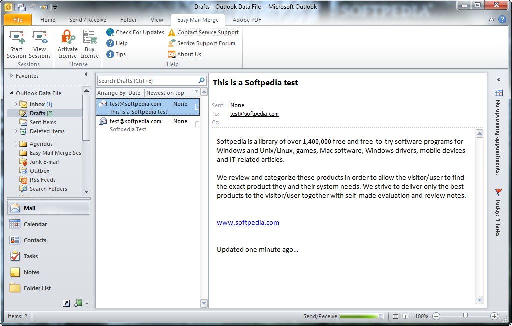 Easy mail merge for outlook 2.0.220