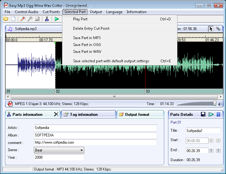 Easy mp3 ogg wma wav cutter 2. 1 download for pc free.