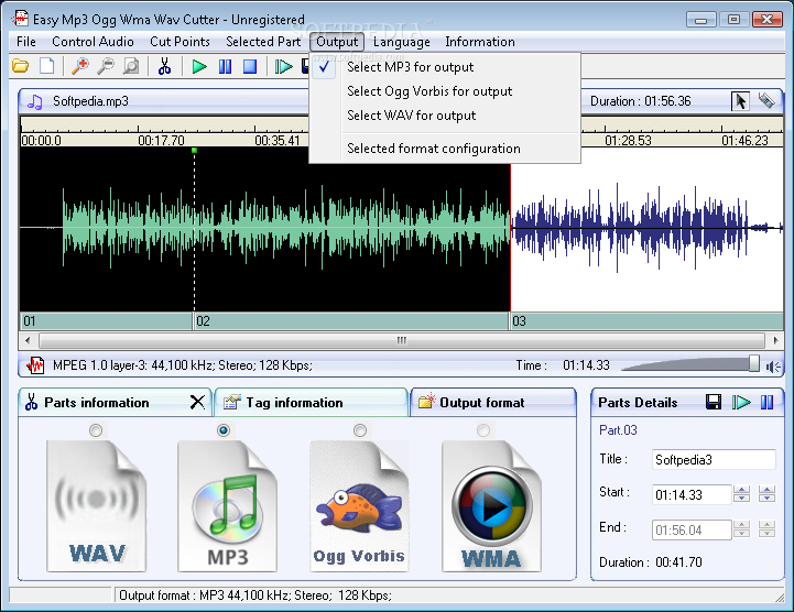 easy audio mp3 wma ogg cutter