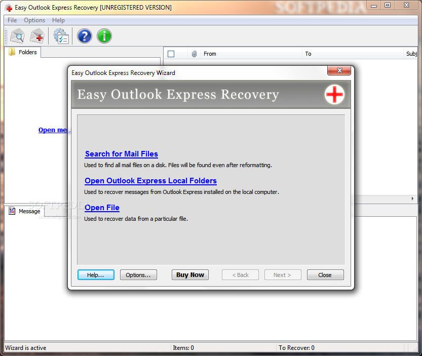 Easy Outlook Recovery 1.4 Лекарство