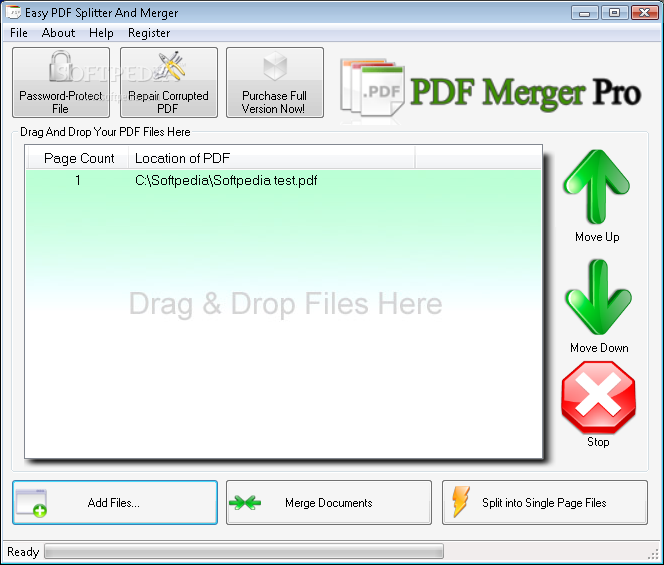 Download Easy PDF Splitter And Merger 2.2