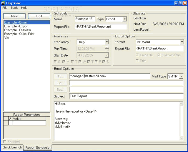 export crystal report to pdf and send email