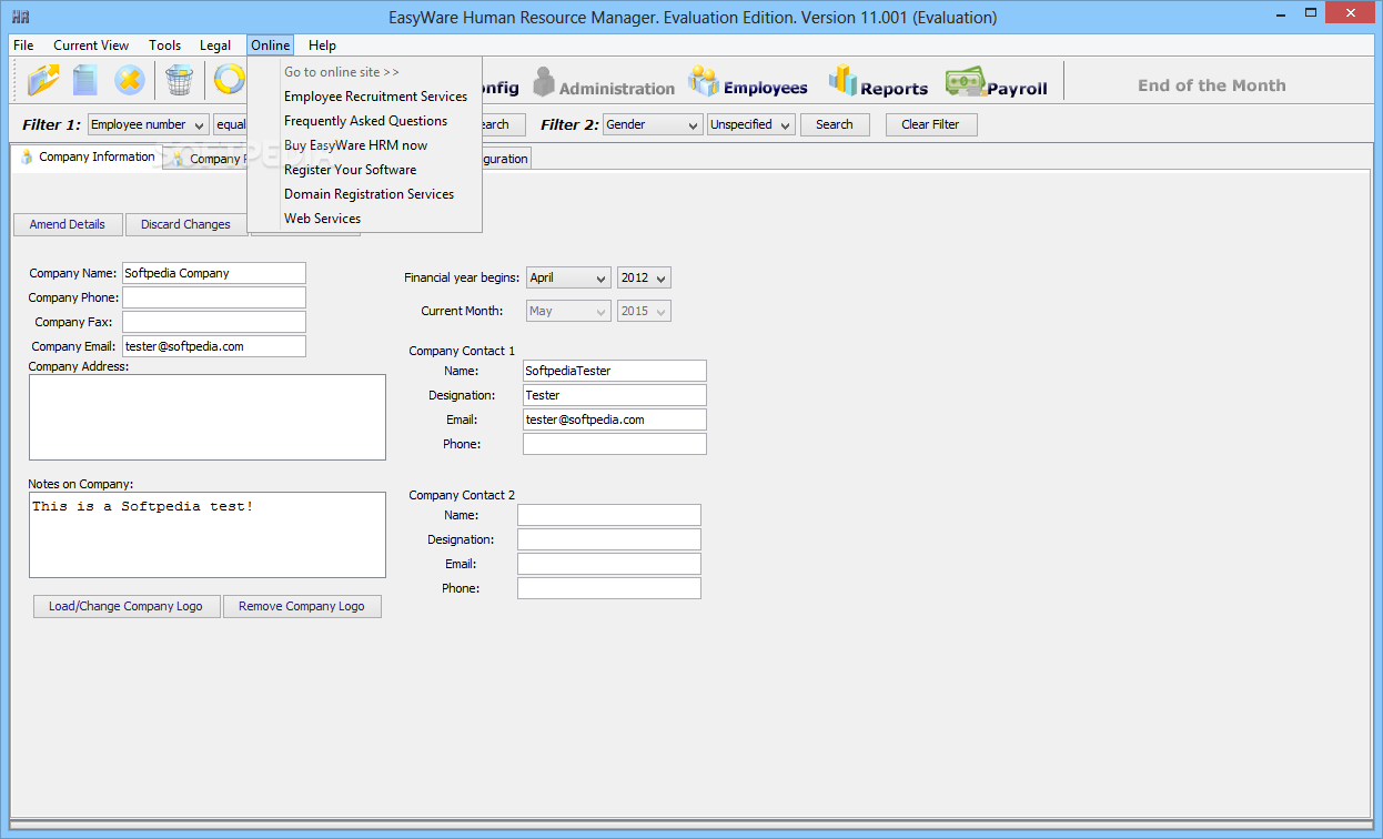 Download Easyware Human Resource Manager 12 Build 002