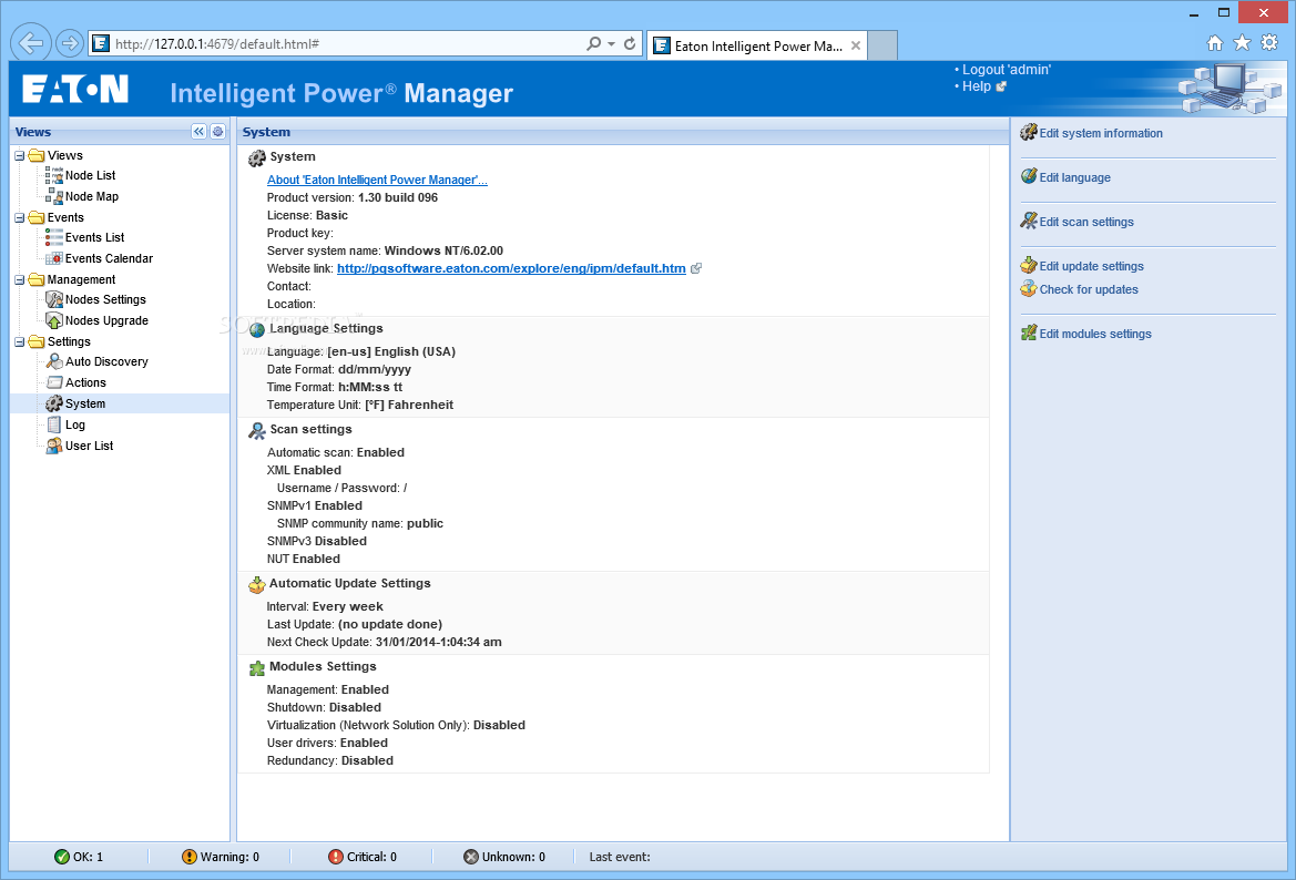 Download Eaton Intelligent Power Manager 1 65 Build 231