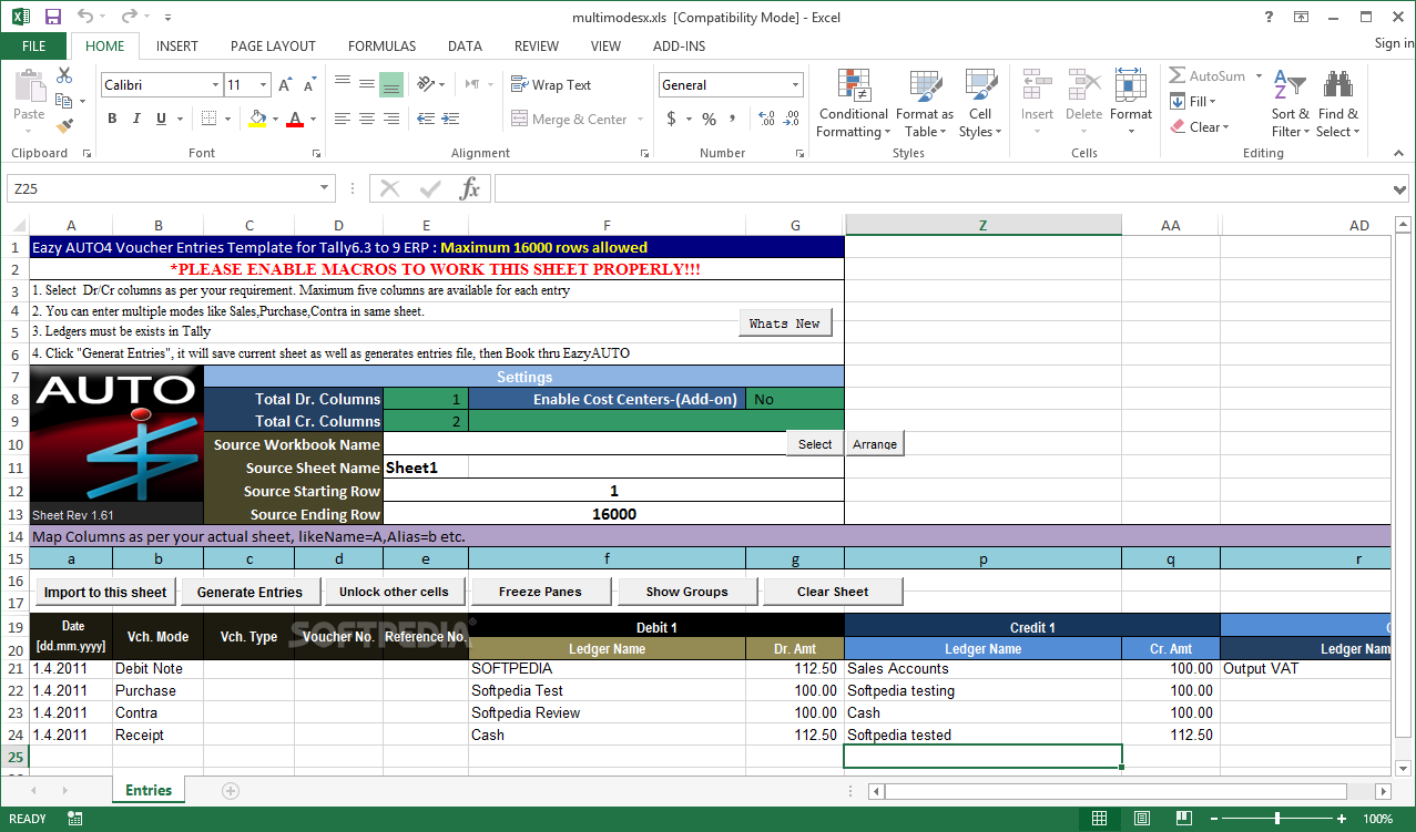 Download Eazyauto4 Excel To Tally Erp9 Data Converter 4 097