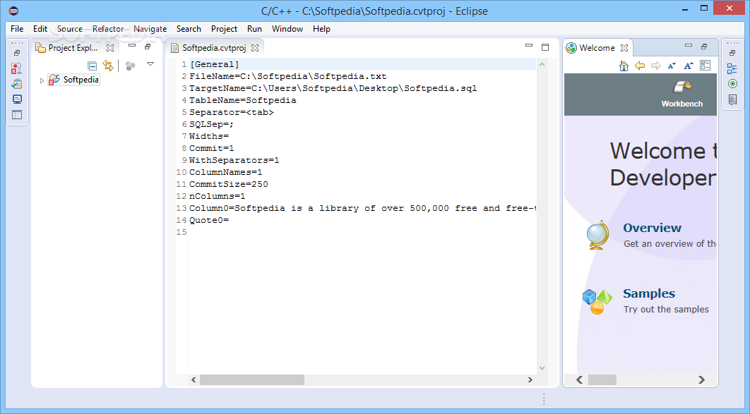 Download Eclipse IDE for C/C++ Developers (Mars2 packages) 4.5.2