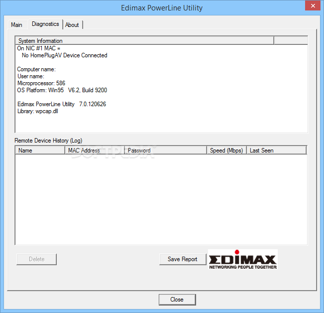 Download Edimax PowerLine Utility 7 0 120626