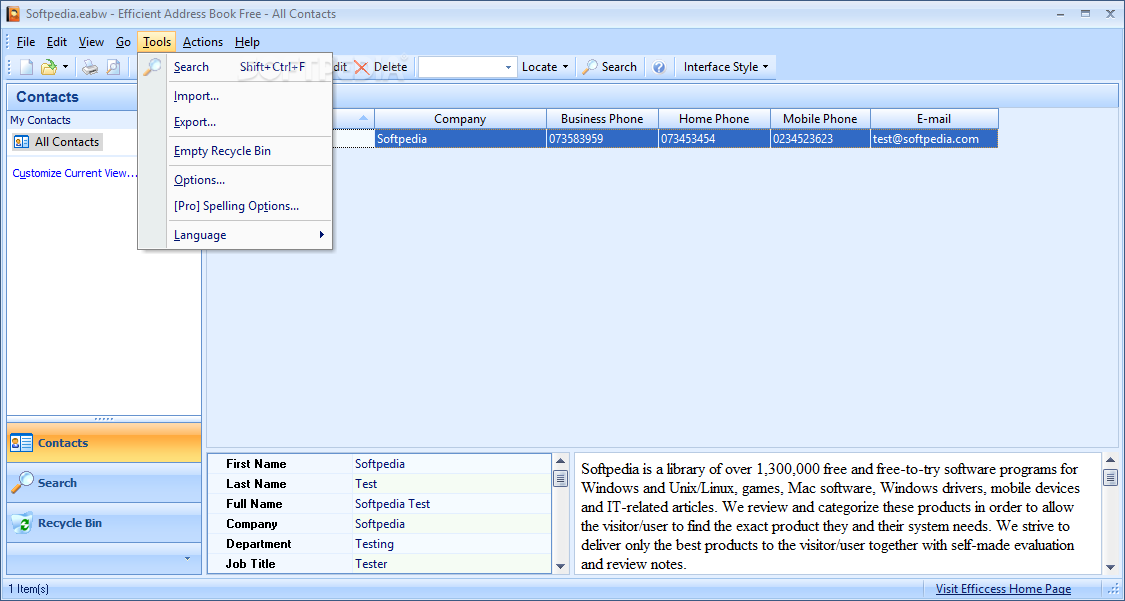 free address book software for windows 7