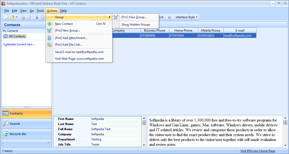 free address book software for windows 8