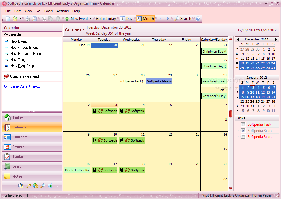 Event Calendar For Organization : Download efficient lady s organizer free build