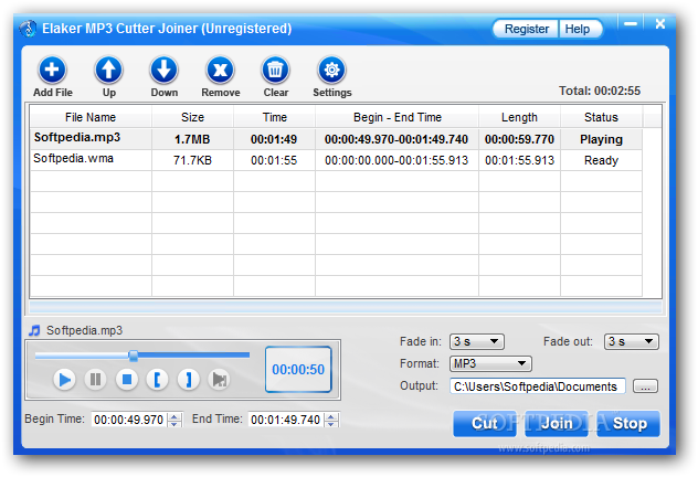 In the following steps, you will see just how easy it is to merge audio tra