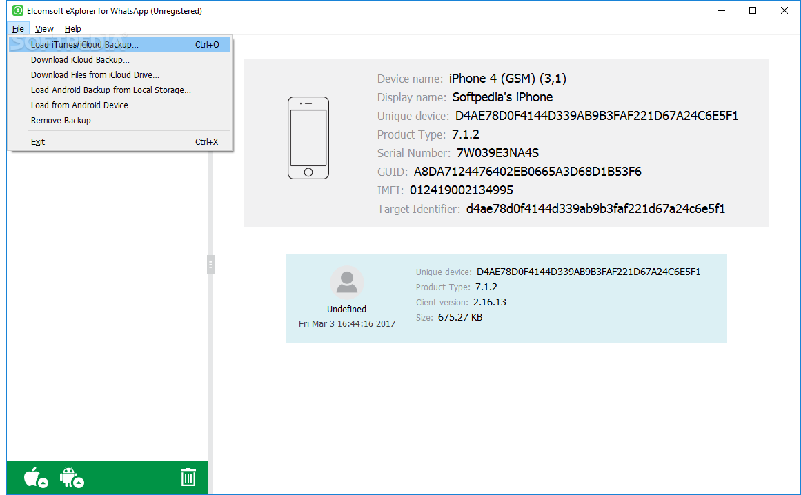 Download Elcomsoft eXplorer for WhatsApp 2 71 Build 34263