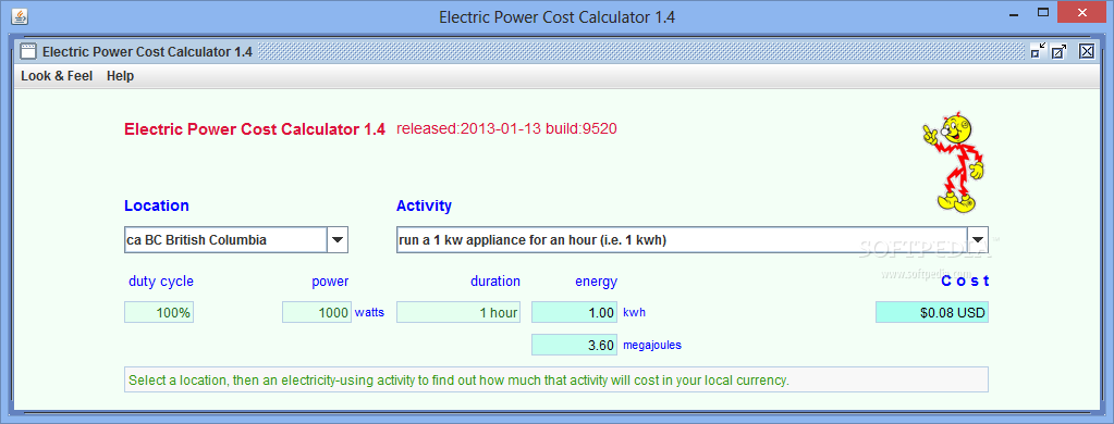 Download Electric Power Cost Calculator 1 5 Build 9560