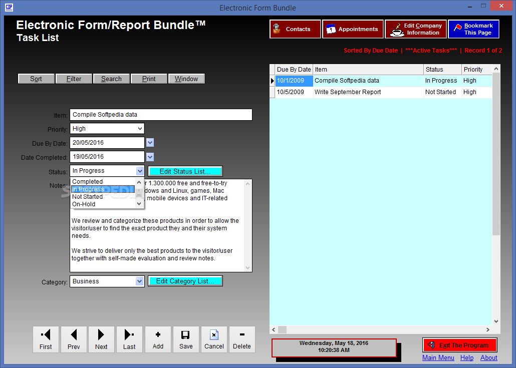 how to create an electronic form