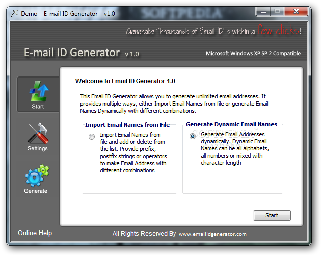 Download Email ID Generator 1 0