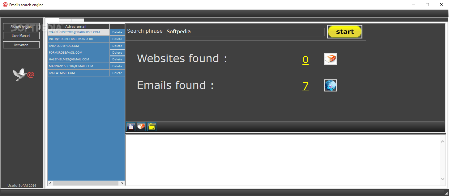 Email search engine 1.1