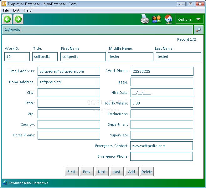 Download Employee Database 1 0
